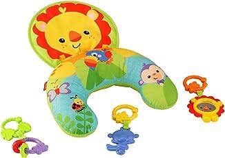 Fisher-Price Y6593 Spielkissen, mit abnehmbaren Beißringen und Spielzeug, Babyerstausstattung, ab 0 Monaten