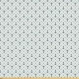 ABAKUHAUS Anker Microfaser Stoff als Meterware, Yachting