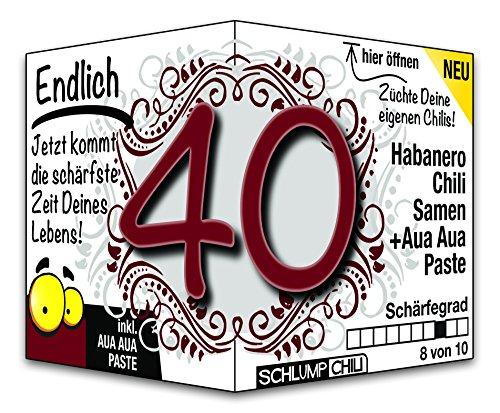 Endlich 40 - das witzige scharfe Geburtstagsgeschenk für Männer und Frauen :)