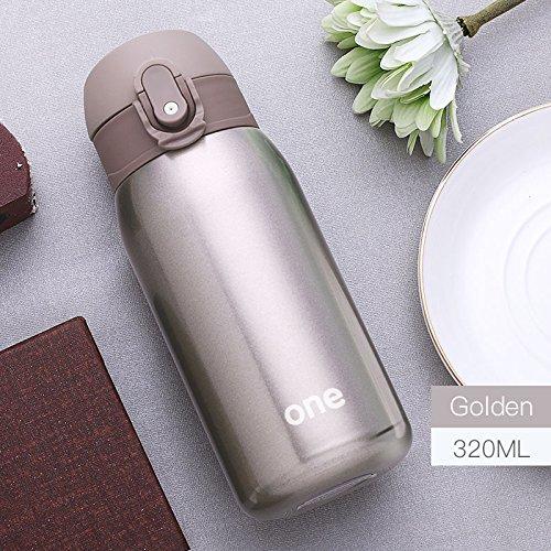 Vakuum Cup Edelstahl Thermos Flasche Baby Thermo-Flasche für Wasser isoliert Coffee Tumbler für Auto, goldfarben ()