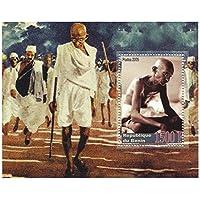 Mahatma Gandhi timbro nazionalista indiano icona foglio di francobolli per collezionisti / 2005 / Benin