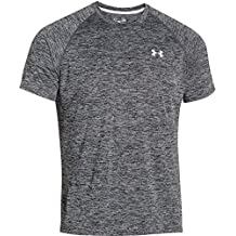 Under Armour Hombre UA Tech SS Tee, Camiseta De Fitness Para Hombre, Negro (Black/Graphite), L