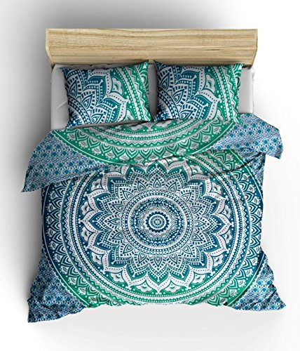 green-color-ombre-mandala-duvet-cover-throw-indian-bedding-quilt-cover-reversible-queen-doona-cover-
