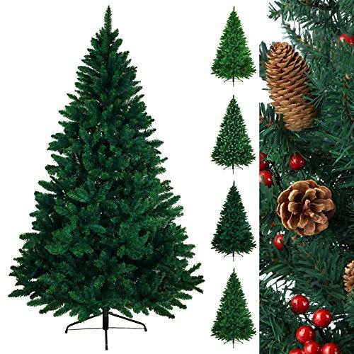 Árbol navideño árbol de Navidad artificial abeto WONDERLAND en 5 tamaños y 3 colores de BB Sport, Color:verde oscuro;Longitud:210 cm (1.160 puntas)
