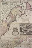 Antique 1715 Map of the Dominion of Great Britain in North America Journal: Take Notes, Write Down Memories in this 150 Page Lined Journal