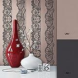 NEWROOM Barocktapete Braun Vliestapete Streifen Tapeten Barock schöne moderne und edle Design Optik , inklusive Tapezier Ratgeber