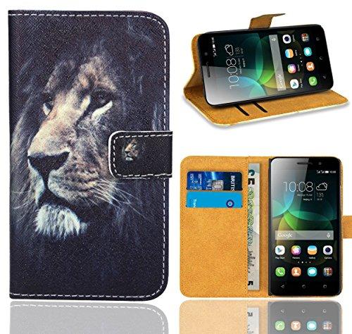 FoneExpert® Huawei G Play Mini / Honor 4C Handy Tasche, Wallet Case Flip Cover Hüllen Etui Ledertasche Lederhülle Premium Schutzhülle für Huawei G Play Mini / Honor 4C (Pattern 4)