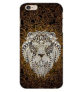 Indian Lion Graphics 3D Hard Polycarbonate Designer Back Case Cover for Apple iPhone 6S Plus