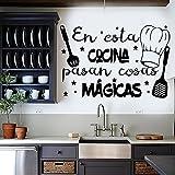 Frase Vinilo para cocina o restaurante 'EN ESTA COCINA PASAN