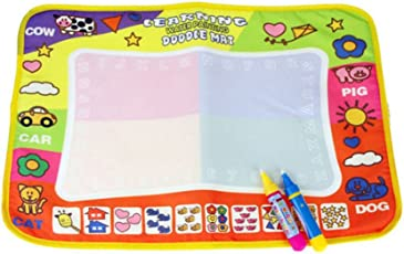 TOYMYTOY Water Painting Mat Scribble Boards for Kids with 2 Pens