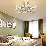 Plafonnier en Cristal, Lumières de Lustre en Cristal, E14 Lampe de Plafond pour Salle à manger, Chambre à Coucher