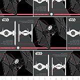 Camelot die Letzten Star Wars Jedi Fighter in schwarz Nähen Stoff (Preis pro Meter)