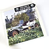 Rolls Royce Plata Ghost 1909 coche clásico tarjeta de felicitación con motor sonido interior