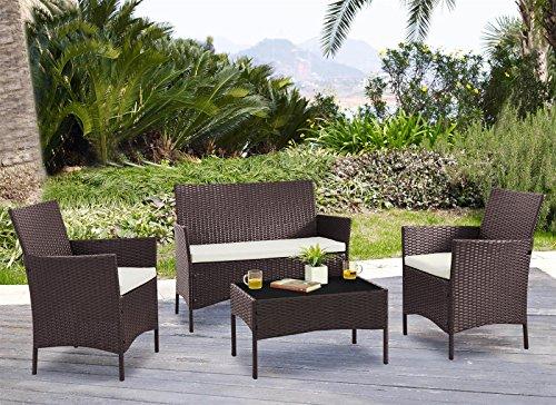 Unmatchable 4-Piece Garden Furniture Set Conservatory