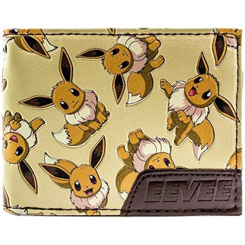 hrere Zeichen Braun Portemonnaie Geldbörse (Eevee Pokemon-kostüm)