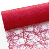 Sizoweb Tischband - 25 Meter Rolle + 100 Deko Herzen Gratis (30cm Breite, in Rot)