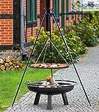 Set - Schwenkgrill 1,80m mit Ø70cm Grillrost und Ø80cm Feuerschale 342
