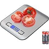Vecoor Balance de Cuisine Numérique avec Chargement, Balance Alimentaire Électronique, écran LCD Lumineux, Balance Électroniq