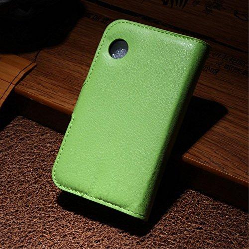LD Case A000202 Bezug Leder-Look, mit Kartenschlitzen für Wiko Ozzy, grün