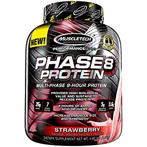 Muscletech Phase 8 Protein - 2.09kg (Strawberry)