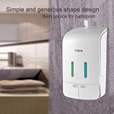 TOTAL HOME Wall Mounted Double Liquid Soap Dispenser Big Capacity Hand pressing Shower Body Lotion Shampoo manual soap dispenser 550ml*2/Industries Double Soap & Hand Sanitizer Dispenser, Surface Mounted, 2 X 18.5 oz Capacity