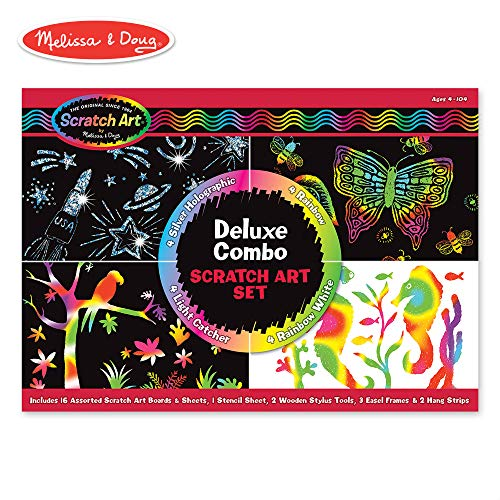 Deluxe Combo Scratch Art Set Animal-print Combo