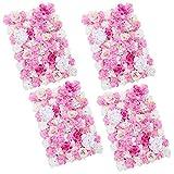 Baoblaze 4pcs Künstliche Blumen Säule, Diy Blumenwand Hochzeit Kunstblumen Deko