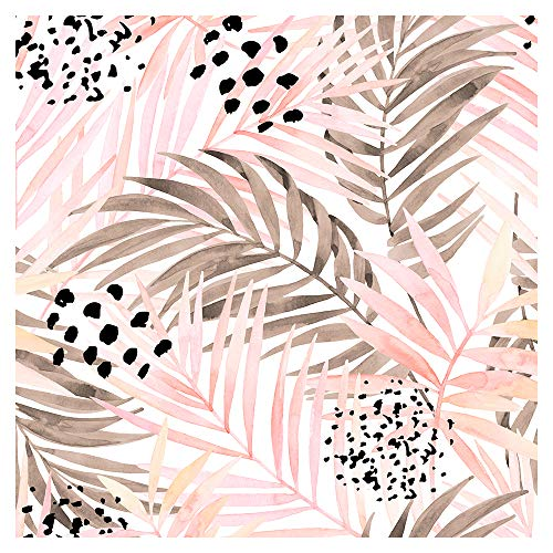 murando - Tapete selbstklebend 10m Wandtattoo dekorative Möbelfolie Dekorfolie Fotofolie Panel Wandaufkleber Wandposter Wandsticker - Tropische Blätter b-C-0259-j-a