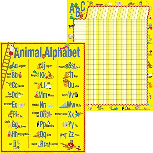 Barker Creek ABC Tiere Motivational Diagramm Set (ll-524)