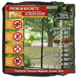 TheFitLife Magnetic Screen Door - Heavy Duty Mesh Curtain with Full Frame Hook and Loop and Powerful Magnets that Snap Shut Automatically (38''x83'' - Fits doors up to 36''x82'' Max)