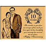 Incredible Gifts India Anniversary Gifts Ideas Wood Steam Beech Personalized Plaque, 8x6-inch (Multicolour)