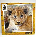 Kalender WWF 2018Wand senkrecht Maßnahmen 30x 30cm Tiger Robbe Panda Löwe