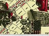 Cooler Dekostoff, Amerika-Motive, mehrfarbig, 140cm
