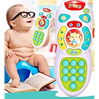 Qsoleil Accesorios de Juguete para niños Colorido Aprendizaje temprano Juguete Música analógico Control Remoto Juguete Niño Música Regalos Juguete de Aprendizaje Infantil