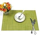 6er Set Tischsets U'Artlines Waschbare Platzsets Rutschsicher Hitzebeständig Platzdeckchen 45*30cm(Grün) - 3