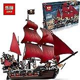 UNBRANDED* Blackbeard pirate ship 7 mini figures # construction set #16009
