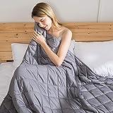 jaymag Manta con Peso para Adultos 150x200cm 9kg Anti-ansiedad Sensorial Calmante para un Mejor sueño y Alivio del estrés 100