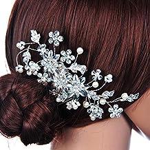 LEORX Spilla per capelli da sposa 5d72791a5d52