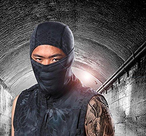 Angeln Face Open (jinzhicheng Full Hälfte Open Face Maske für Outdoor Radfahren Skifahren Wandern Camping Motorrad Helm (schwarz))