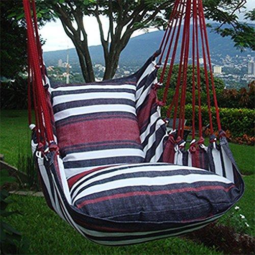 Holzenplotz Hängesessel Hängematte Hängestuhl aus Baumwolle mit 2 Kissen 3 Größen lieferb. Größe XXL 240