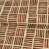 Dekostoff Streifen im Block weinrot Canvasstoffe