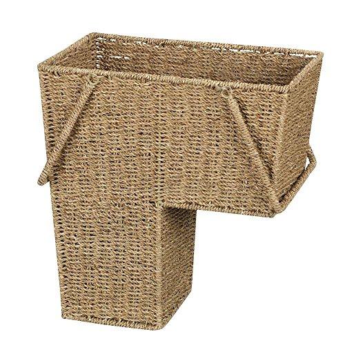 Haushalt Essentials Seegras Treppe Korb mit Griff (Rattan-magazin-korb)