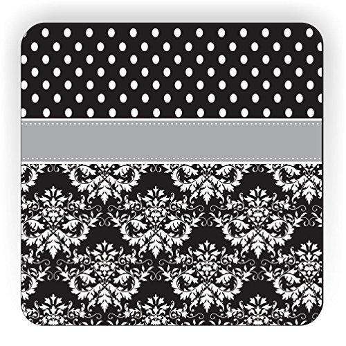 Preisvergleich Produktbild Rikki Knight rk-2.25sqmgn-44585Initiale Z DAMAST Punkte Design Quadratisch Kühlschrank Magnet, grau/schwarz