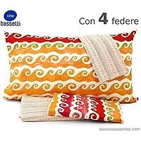 Bassetti: juego de sábanas Mania para cama matrimonial. Dundas Var. Naranja/salmón.