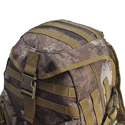 YAKEDA® Neue Ankunfts-45L Militärrucksack 600D Polyester-Gewebe Tactical Bag - A88047 (camouflage) camouflage