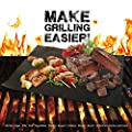 Flamen Heavy Duty Non-stick Bbq Grill Mat Electric Barbeque Fire Pits Reusable Durable And Creates Grill Marks Set Of 4 by Aspectek