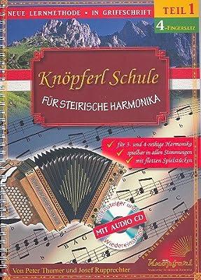 Knöpferlschule 4-Fingersatz Band 1 (+CD) :