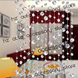10 Meters Glass Crystal Beads Curtain Window Door Curtain Passage Wedding Backdrop (Transparent)