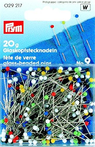 Prym 0,60x 30mm 20g Nummer 9, Glass-Headed Pins