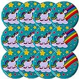 TE-Trend 12 pezzi yoyo jojo Set motivo arcobaleno UNICORNO metallo 60mm RAGAZZA GIOCATTOLO BAMBINO Pensierino Compleanno Bambini